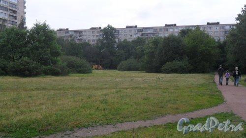 Улица Димитрова, дом 24, корпус 2. 9-этажный жилой дом серии 1ЛГ-602В-9 1973 года постройки. 9 парадных, 323 квартиры. Фото 21 июня 2018 года.