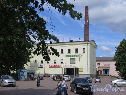 г. Выборг. ул. Некрасова, д. 37. Магазин «Практика». Общий вид. фото июль 2016 г.