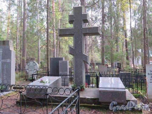 Комаровский некрополь. Надгробный памятник семьи Лихачёвых. фото октябрь 2016 г.